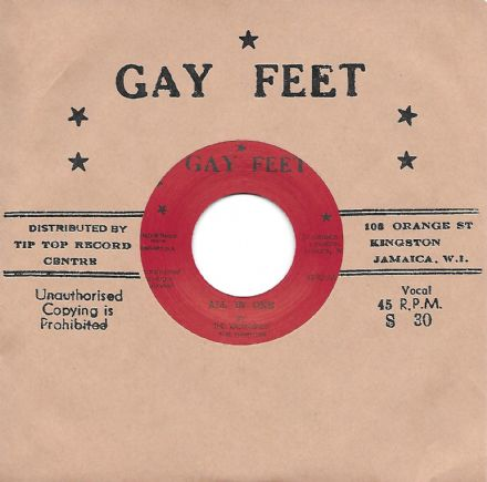 Valentines - All In One / Leslie Butler - Top Cat (Gay Feet / Dub Store Records) JPN 7""